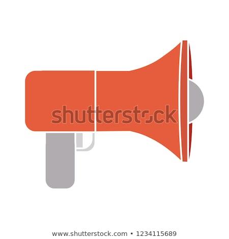 alto-falante · ilustração · assinar · branco · fundo · microfone - foto stock © get4net