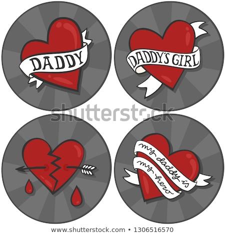 Daddy's girl tattoo Stock photo © sahua