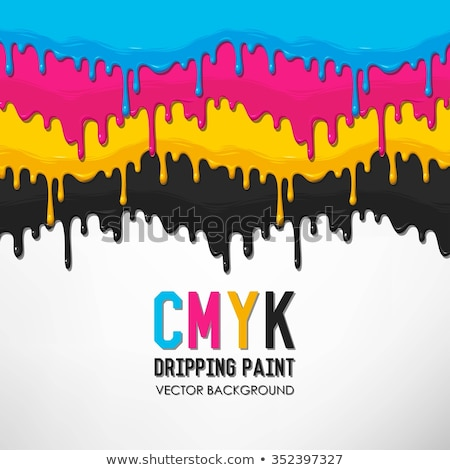 CMYK Paint Dripping Colors Vector Graphic Background Stock photo © smith1979