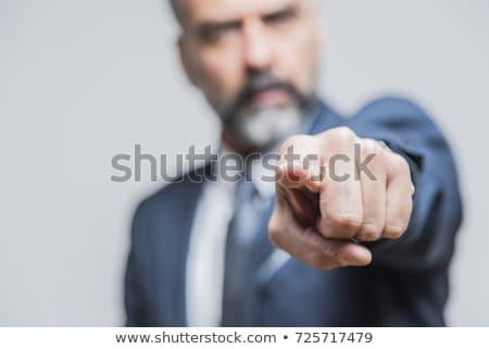 Empresário indicação homem corporativo trabalho branco Foto stock © Minervastock