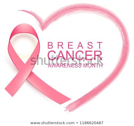 Cancer du sein conscience mois forme de coeur isolé Photo stock © orensila