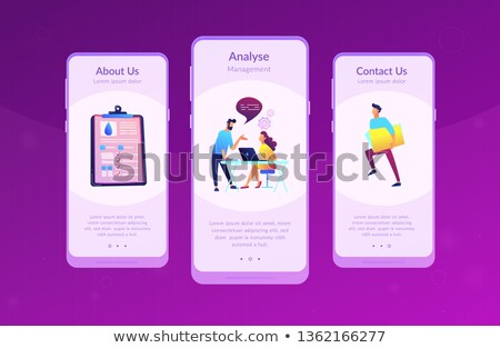 water management smart city app interface template stock photo © rastudio
