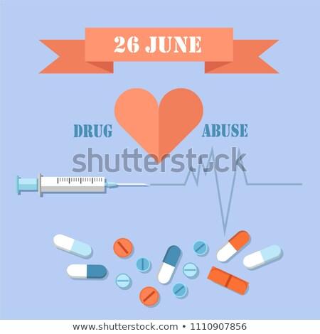 26 dia droga abuso bandeira Foto stock © robuart