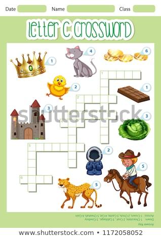 Letra c palavras cruzadas modelo ilustração arte padrão Foto stock © bluering