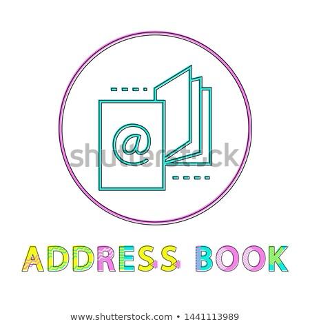 Címkönyv lineáris ikon sablon app lista Stock fotó © robuart