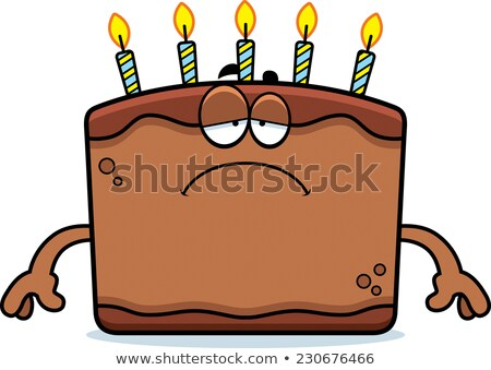 Sad Cartoon Birthday Cake Stock photo © cthoman