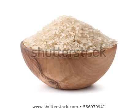 Heap Reis weiß Stock foto © Digifoodstock