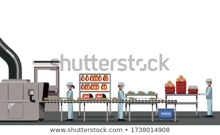 meat processing factory stock photo © grafvision