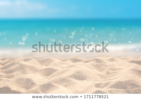 Tropical beach with sea and bright sand Stock photo © karandaev