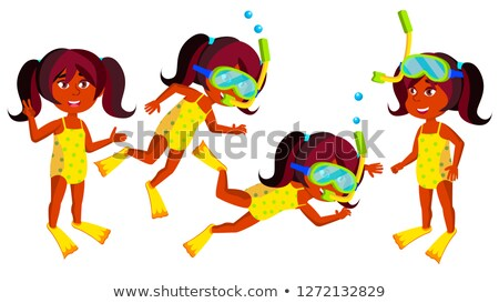 индийской девушки детский сад Kid набор вектора Сток-фото © pikepicture