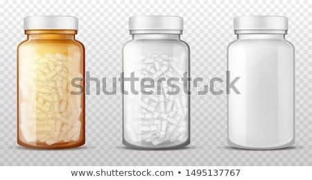 Bottle with Pills Vitamins Set Vector Illustration Stock photo © robuart