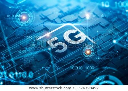3D woord wifi draadloze symbool icon Stockfoto © nasirkhan