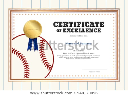 Certificat modèle baseball attribution illustration fond Photo stock © colematt