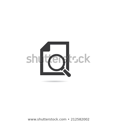 Office Paper and Magnifying Glass Icons Vector Stock photo © robuart