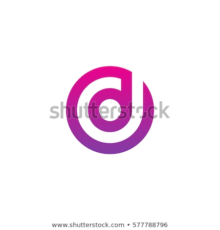 d logo pink purple icon vector symbol Stock photo © blaskorizov