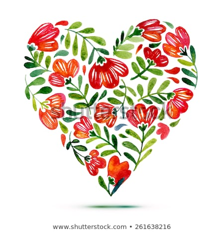 flower heart icon floral symbol Stock photo © blaskorizov
