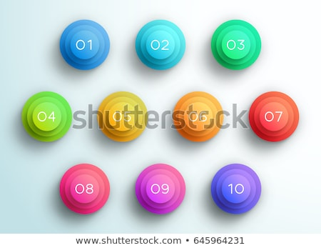 Number one multiplication circle Stock photo © colematt