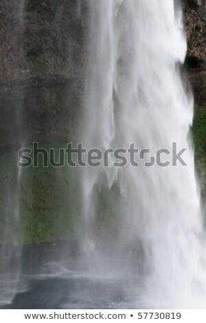 Fragment waterval IJsland natuurlijke abstract Stockfoto © Kotenko