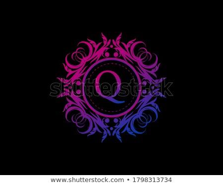 знак логотип символ пурпурный икона вектора Сток-фото © blaskorizov