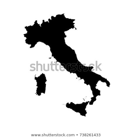 итальянский · карта · силуэта · символ · набор · продовольствие - Сток-фото © netkov1