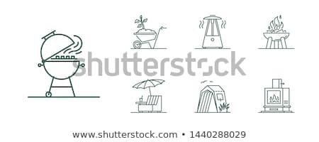 Hoguera vector icono aislado blanco Foto stock © smoki
