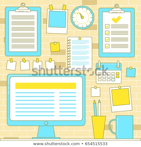 Workflow organization with bulletin wall and pinned clipboards Stock photo © kali