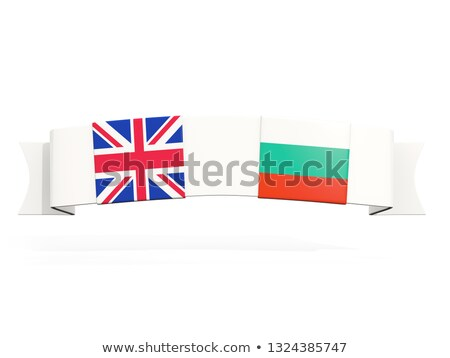 Banner with two square flags of United Kingdom and bulgaria Stock photo © MikhailMishchenko