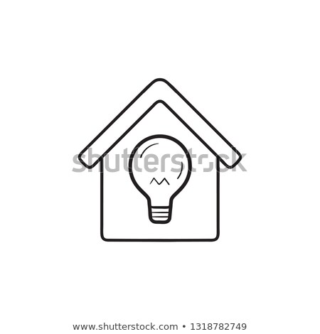 Smart house energy consumption hand drawn outline doodle icon. Stock photo © RAStudio