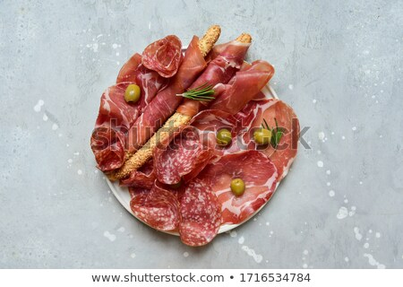 Prosciutto, salami and sausages Stock photo © grafvision