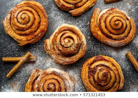 tea and cinnamon rolls stock photo © karandaev