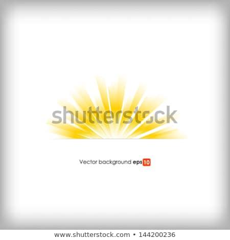 Stock photo: Square Summer Sun Light Burst