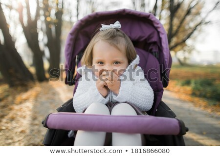 People Walking in Park with Stroller Autumn Season Stock photo © robuart