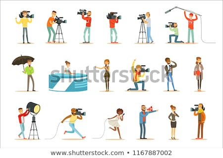 A professional cameraman character Stock photo © colematt