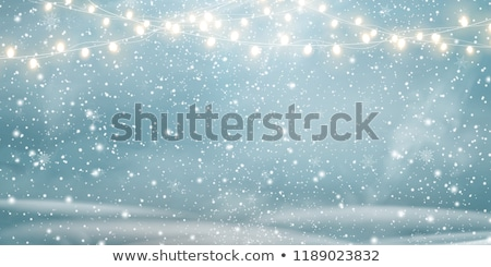 Forest with Snowflakes and Hills at Night Vector Stock photo © robuart
