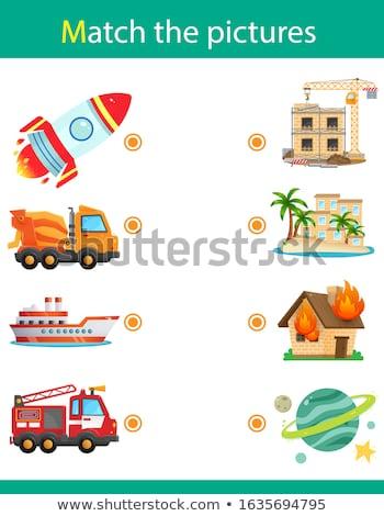 Oktatási gyerekek játék logika gyerekek összeillő Stock fotó © anastasiya_popov