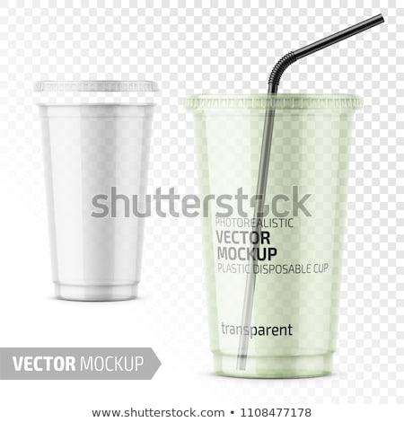 напиток пакет шаблон иллюстрация белый бумаги Сток-фото © olegtoka