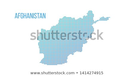Afghanistan map. Vector halftone composition. Vector illustration isolated on white background. Stock photo © kyryloff