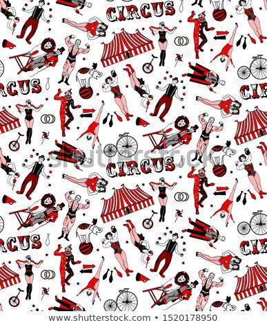 Circo palhaço ilustração feliz abstrato Foto stock © colematt
