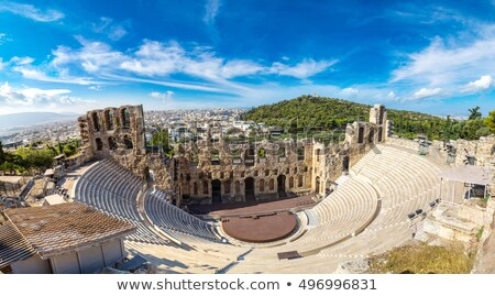 Herodes Atticus amphitheater of Acropolis, Athens Stock photo © neirfy