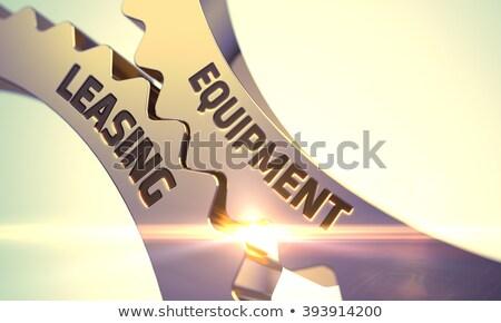 Equipment Leasing Concept Golden Gears 3d Illustration Foto stock © Tashatuvango