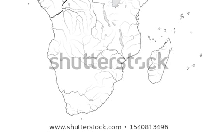 World Map of AFRICA COASTLINE and MADAGASCAR: Kenya, Tanzania, Zanzibar, Madagascar. (Chart). Stock photo © Glasaigh