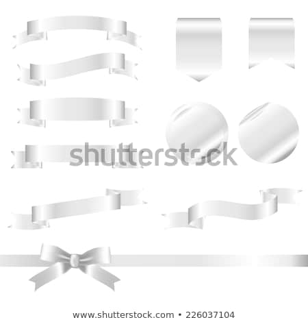 White Ribbon Set Isolated White Background Stock photo © barbaliss