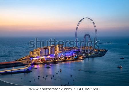 Dubai stad strand skyline landschap achtergrond Stockfoto © jossdiim