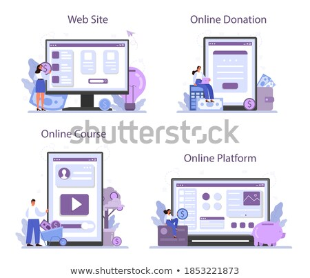 Investissement contribution plate-forme dollar web vecteur Photo stock © robuart