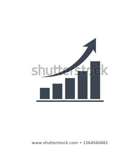 bar chart related vector glyph icon stock photo © smoki