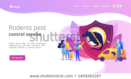 Rodents pest control service concept landing page Stock photo © RAStudio