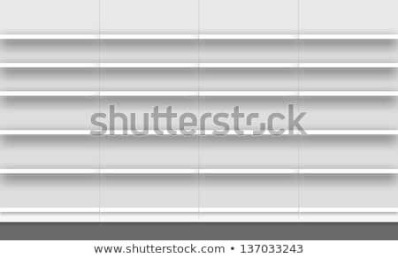 Supermarket Shelf Facade Stock photo © albund