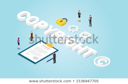 Stock photo: Trademark Copyright Patent License Intellectual Property 3d Illustration