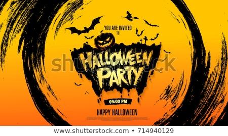 Stok fotoğraf: Halloween · parti · poster · dizayn · dolunay