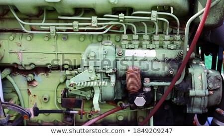 velho · industrial · retro · aço · vintage · engrenagem - foto stock © grafvision